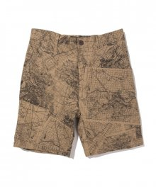 FUCT SSDD / MAP PATTERN SHORTS / BEIGE