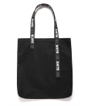 LOGO TAPED TOTE BAG [BLACK]