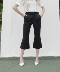 엽페(YUPPE) string pants_navy