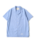 제로() Hawaiian Linen Solid Shirts (Powder Blue)