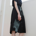 FRILL SHIRT SKIRT BLACK