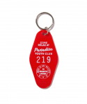 PARADISE YOUTH CLUB / MOTEL KEYCHAIN / RED