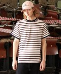 에번라포레(EVANLAFORET) UNISEX COVER STRIPE T-SHIRT WHITE