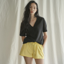 누이슈(NUISSUE) COTTON BENDING SHORTS (LEMON)