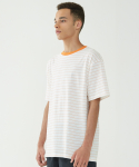인사일런스(INSILENCE) Narrow Stripe Tee (Orange)