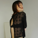 일일오구스튜디오(1159STUDIO) MH2 LACE BOLERO T-SHRITS_BLACK