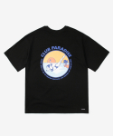 레이어 유니온(LAYER UNION) CP DIVING S/S TEE BLACK