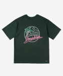 레이어 유니온(LAYER UNION) CP NEON S/S TEE GREEN