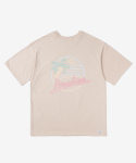 레이어 유니온(LAYER UNION) CP NEON S/S TEE BEIGE