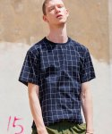 로얄위(THE ROYAL 'WE) CHECK ROUND SHIRTS NAVY