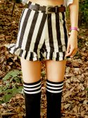 브이브이브이(VVV) VVV BLACK STRIPE SHORTS