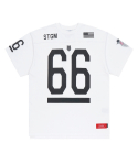 스티그마(stigma) K.SWISS X STIGMA 66 OVERSIZED FOOTBALL T-SHIRTS WHITE