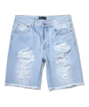 헤비스모커(HEAVYSMOKER) Denim Half Pants (Sky blue)