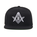 블랙스케일(BLACK SCALE) BLACK SCALE Compass Snapback (Black)