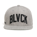 블랙스케일(BLACK SCALE) BLACK SCALE Wave Logo Snapback (Grey)
