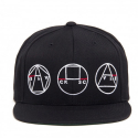 블랙스케일(BLACK SCALE) BLACK SCALE Golden Shapes Snapback Black