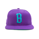 블랙스케일(BLACK SCALE) BLACK SCALE B LOGO SNAPBACK PURPLE