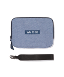 위크에이드(WEEKADE) FAMILY PASSPORT BAG & POUCH_Denim blue