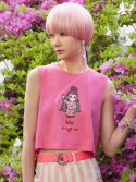 브이브이브이(VVV) PINK DOLL CROP TOP