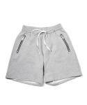 헤비스모커(HEAVYSMOKER) Zipper Banding Half Pants (Gray)