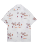 모디파이드() M#1337 fireworks hawaiian shirt (white)