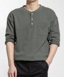 소소라이프(SOSOLIFE) Henly Neck Pocket 7Cut T - KHAKI