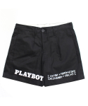 아임낫어휴먼비잉(I AM NOT A HUMAN BEING) [HBXPB] Half Rabbit Head Logo Shorts - Black