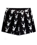 아임낫어휴먼비잉(I AM NOT A HUMAN BEING) [HBXPB] Rabbit Head x IMXHB Logo Pattern Shorts - Black