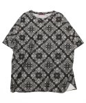 그로스인벤토리(GROSSINVENTORY) PAISLEY WOVEN T-SHIRTS (BLACK)