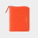 살랑(SALRANG) Dijon 301 Layer ZIpper Wallet coral orange
