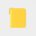 Dijon 301 Layer ZIpper Wallet lemon yellow