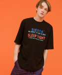 시에스타(SIESTA) SLEEP TIGHT HALF T [BLACK]