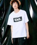 피스피스(PIECEPEACE) BOX END OVERSIZED 1/2 SLEEVE WHITE