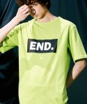 피스피스(PIECEPEACE) BOX END OVERSIZED 1/2 SLEEVE LIME