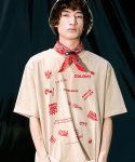 피스피스(PIECEPEACE) RED COLONY OVERSIZED 1/2 SLEEVE BEIGE