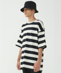 인사일런스(INSILENCE) Big Stripe Oversize Tee (Black)