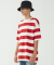Big Stripe Oversize Tee (Red)