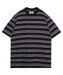 모디파이드() M#1349 3d-color stripe tee (black)