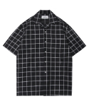 모디파이드() M#1350 square check hawaiian shirt