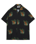 모디파이드() M#1341 tiger hawaiian shirt (black)
