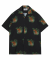 M#1341 tiger hawaiian shirt (black)