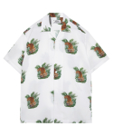 모디파이드() M#1340 tiger hawaiian shirt (white)