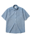 파르티멘토() Washing Denim Chambray 1/2 Shirts Light Indigo