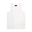 블랙스케일(BLACK SCALE) BLACKSCALE Split Mesh Tank Top White