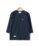 헨더(HANDER) DIVIDE TUNIC SHIRTS [NAVY]