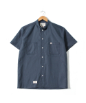 COTTON LINEN STAND COLLOR SHIRTS [NAVY]