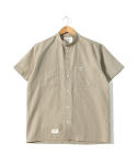 헨더(HANDER) COTTON LINEN STAND COLLOR SHIRTS [BEIGE]