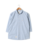 헨더(HANDER) SOFT STRIPE SHAWL COLLAR SHIRTS [PALE BLUE]