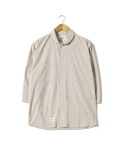 헨더(HANDER) SOFT STRIPE SHAWL COLLAR SHIRTS [BEIGE]