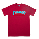 쓰레셔(THRASHER) Outlined Tee - Cardinal